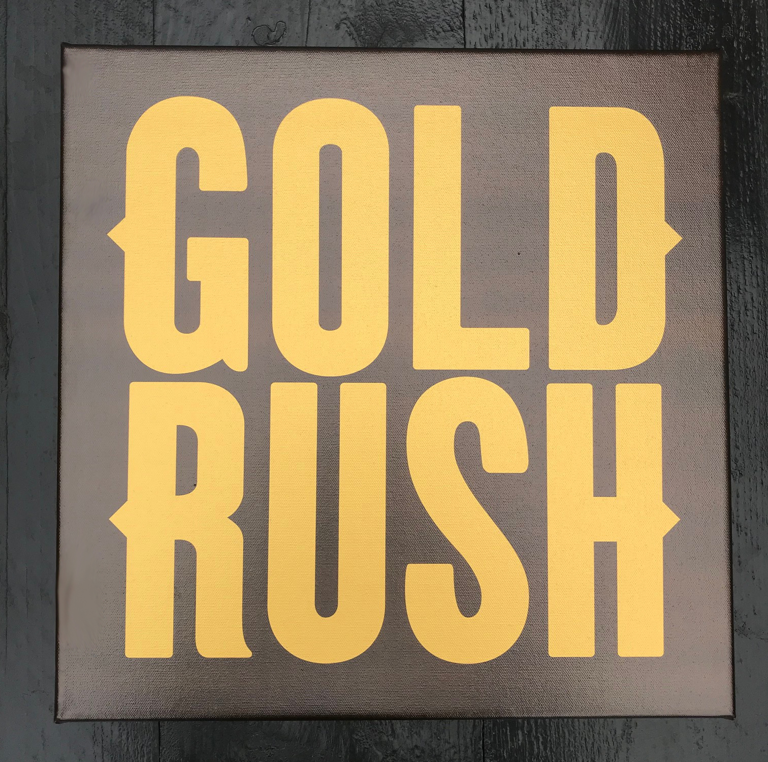 Gold Rush Canvasdoek Goud