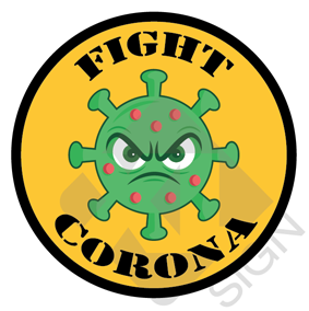 Fight Corona bierviltje
