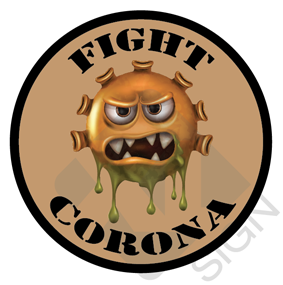 fight corona monster bruin bierviltjes