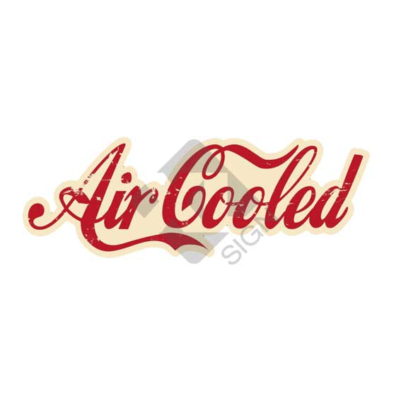 aircooled-rood-beige-sticker
