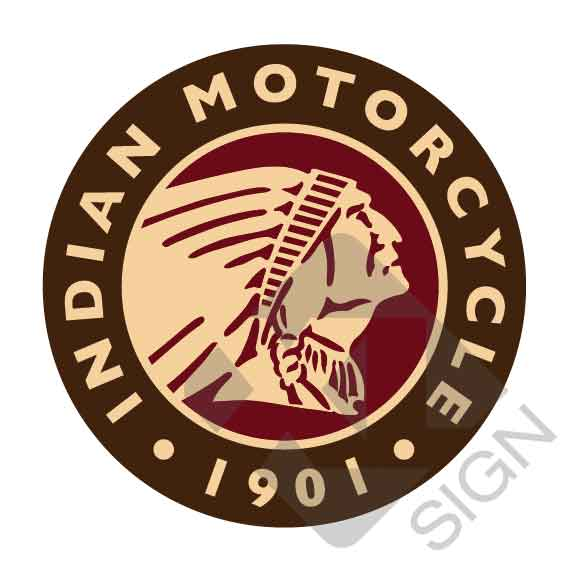 Indian motorcycle 1901 sticker