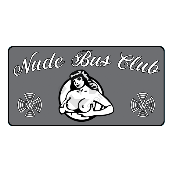 nude bus club luchtkanaal sticker T1